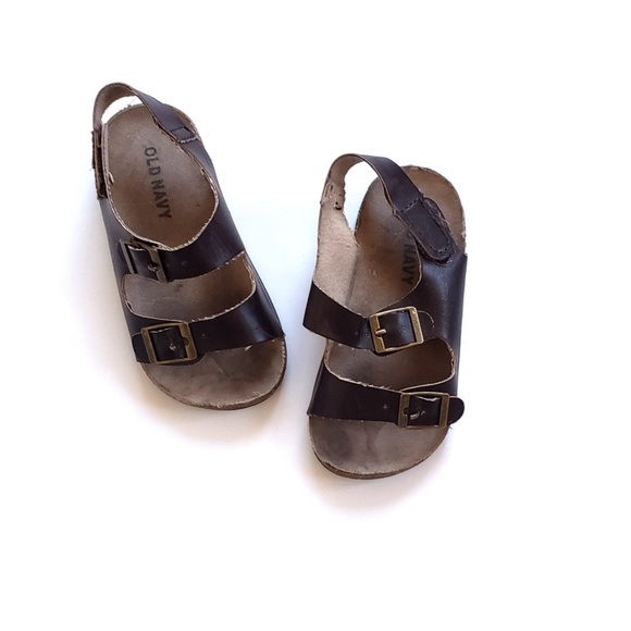 6eb5abd7d614   old navy   double buckle faux leather sandals. M 5c946a4be944ba0fff7b7c67